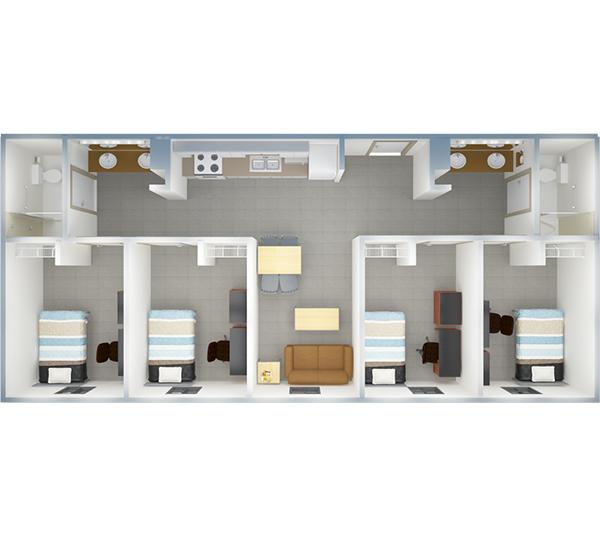 towers 4 bedroom floor plan